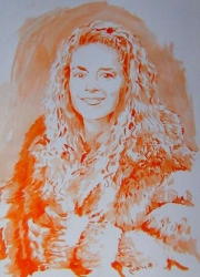 Portrait orange en manteau de fourrure.jpg