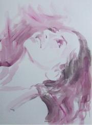 Portrait gris violet