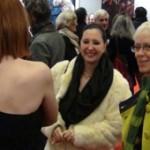 Isabelle Morin avec Marie Isabelle et Elisabeth Lerolle au salon des indépendants 2014 pour la galerie art contemporain Les Koronin.
