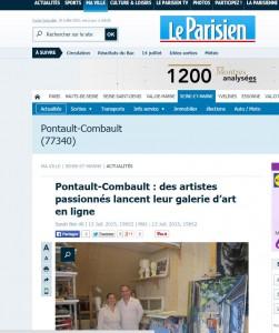 La galerie en linge art contemporain et la presse.