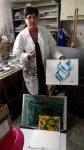 La galerie en ligne accueille une nouvelle artiste plasticienne, madame Marlène Gillet. La peintre de Marlène Gillet s'inscrit dans la lignée artistique de la peinture abstraite. Elle conçoit ses recherches picturales dans l'idée de l'étendue poétique, c'est-à-dire un système où l'intellect fabrique des systèmes d'abstraction en présence d'une situation plastique pour permettre à l'esprit de se l'approprier. Les formes et les couleurs ne se contentent pas alors de nous parler seulement de formes et de couleurs; l'Art de Marlène Gillet ne rivalise pas avec l'apparence, il nous désigne au-delà de l'apparence ce qu'est l'Idée d'une poésie qui se voit plutôt que se lire. La page de Marlène Gillet est en fabrication mais je vous invite à la consulter déjà!!! https://www.artistepeintre-enligne.com/galerie-ligne-marlene-gillet/