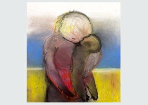 Miriam Cahn, Am strand 4197, 14.12.2016, Pastell auf Papier, 74 x 70 cm