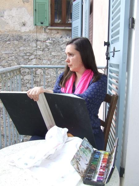 Isabelle Morin dessine à Saorge