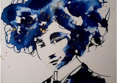Titre : Un air de Colette / Matière : encre sur papier aquarelle / Format : 30x40