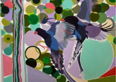 100/100 cm toile acrylique « Les ailes de la liberté »