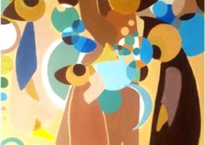 95/75cm toile acrylique « wishes »