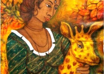 The Franco-Swiss online art gallery offers you a work of its Indian artist Anirban Sheth