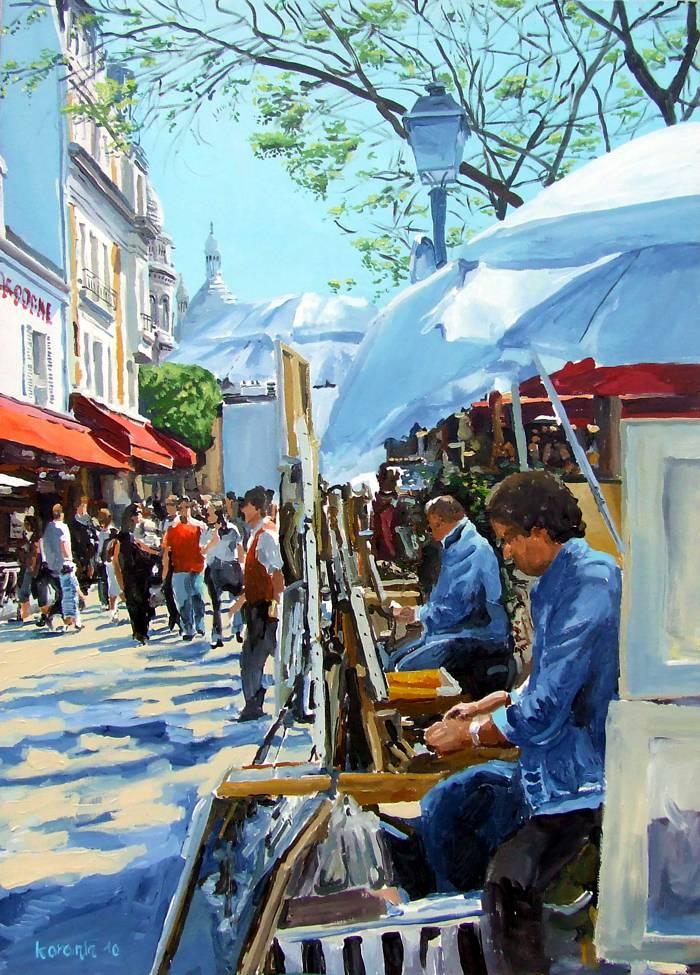 Ein Gemälde von Philippe Morin Koronin für die Online-Kunstgalerie, Paris, Montmartre