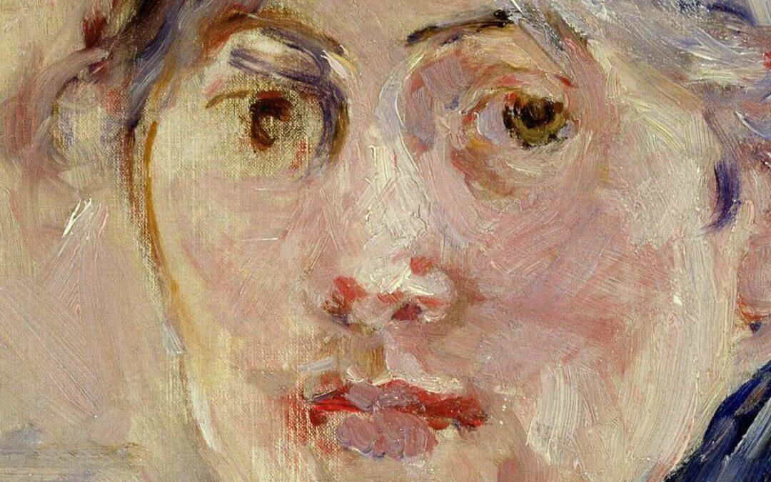 Frauenkunstausstellung mit einer Frau