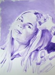 Portrait d'une femme dans le réseau social 4